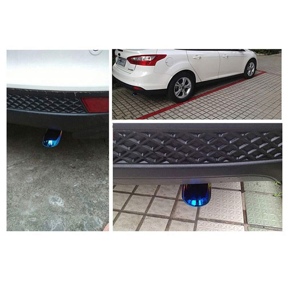1 St/ücke Edelstahl Gegrillt Blau Auto Auspuff Tip Endrohr Schalld/ämpfer Abdeckung Auto /Änderung Auto Styling f/ür Ford Focus