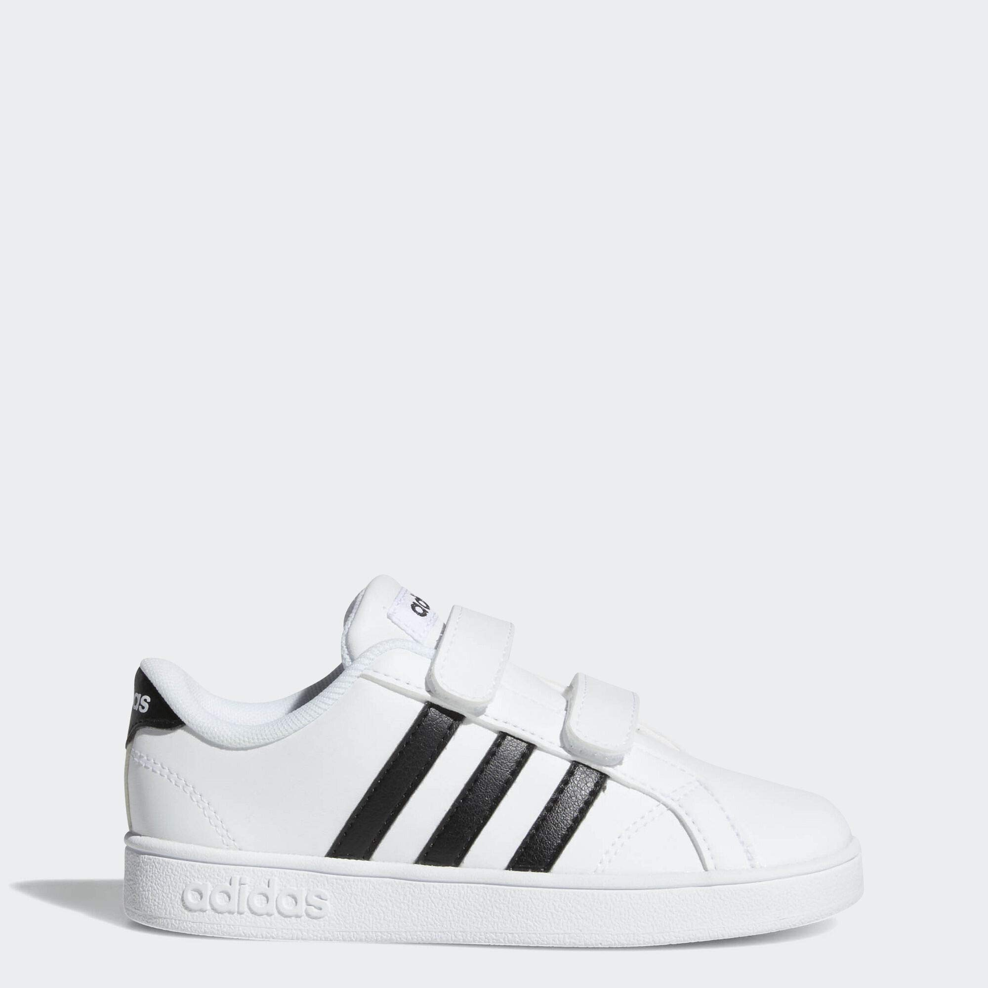 adidas Performance Baby Baseline Sneaker, White/Black/White, 8.5K M US Toddler by adidas