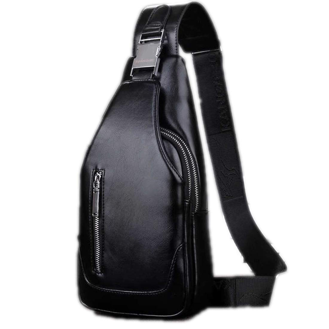 man's bag Men shoulder PU leather Chest Bags Crossbody business Messenger bags Male charging Handbag USB Charge,black NO USB mouth,small size