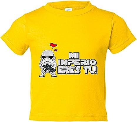 Camiseta niño mi imperio eres tu regalo amor friki San Valentín - Amarillo, 3-4 años: Amazon.es: Bebé