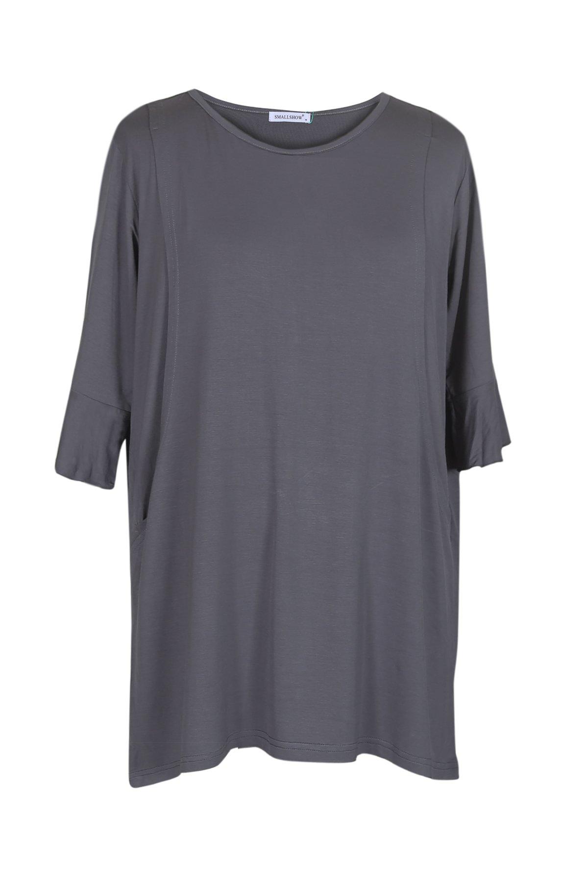 Smallshow Women's Nursing Tops Breastfeeding Clothes Medium Deep Grey