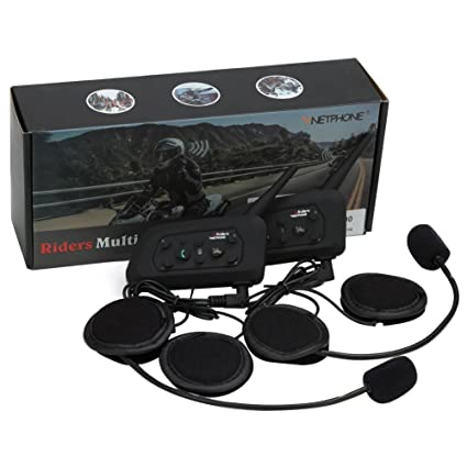d9e249632cb VNETPHONE Motorcycle V6 Intercom / Headset Compatible with Bluetooth  Function 1200M Full Duplex Interphone Skiing Scooter