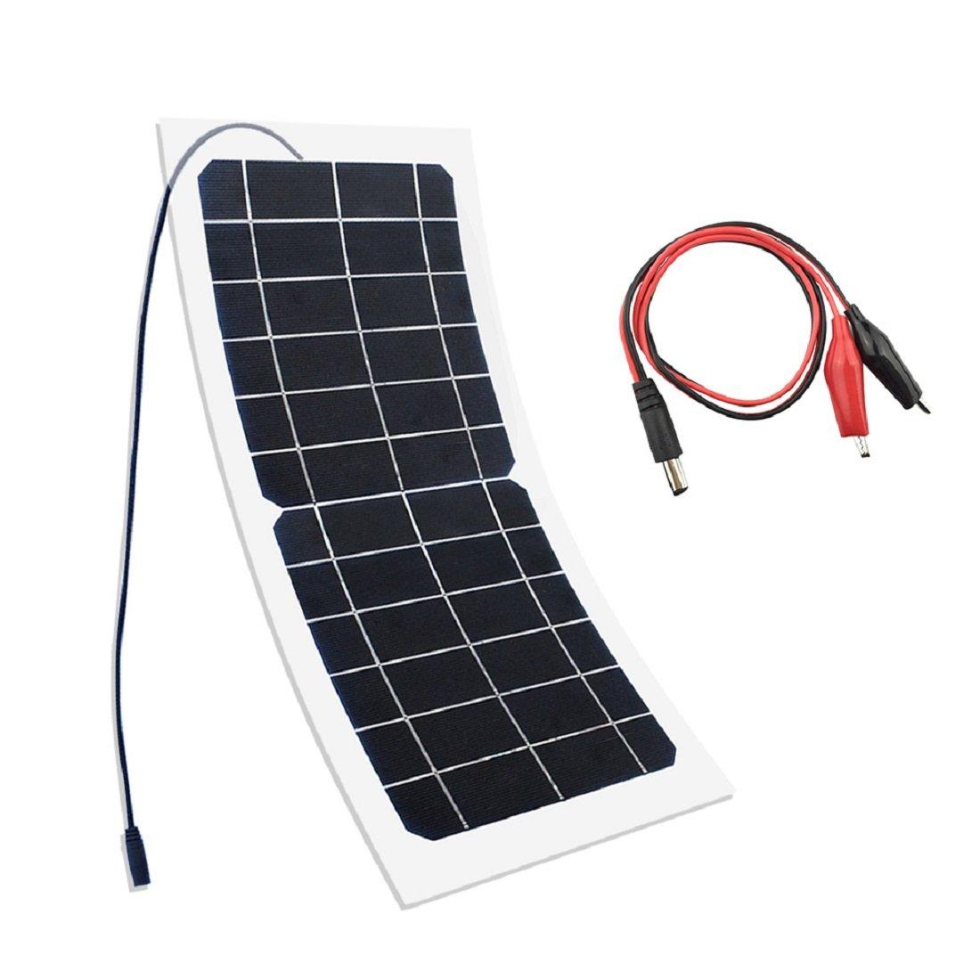 bateau charge ext/érieure appareil photo YUANFENGPOWER 10W 6V Panneau solaire monocristallin pour camping voiture