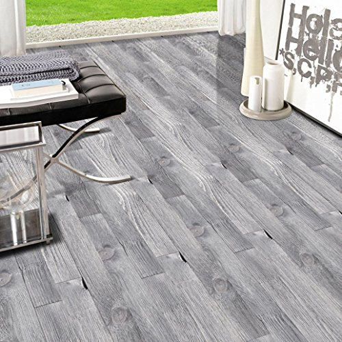 WensLTD_ Clearance! 20x200cm Adhesive Tile Art Floor Wall Decal Sticker DIY Kitchen Bathroom Decor - Adhesives Floor Tile