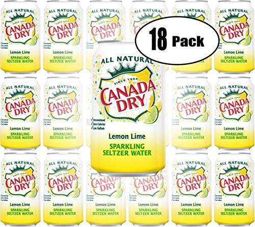 Canada Dry Lemon Lime, Sparkling Seltzer Water, 12oz Can (Pack of 18, Total of 216 Oz) (Canada Dry Mandarin Orange Sparkling Seltzer Water)