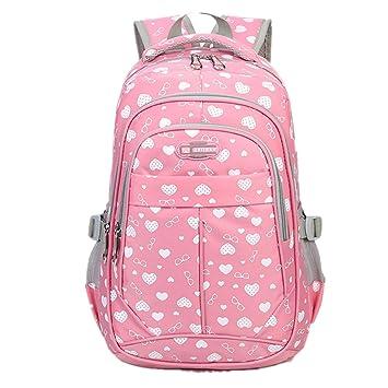 c7ec7c37d1b56 Bom Bom Schule Rucksack Bogen Wasserdichtes Daypack für Mädchen(A ...