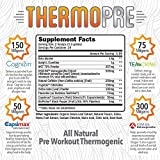 RAW Synergies Pre Workout Thermogenic Fat Burner Powder for Women and Men, All Natural Energy & Weight Loss Supplement - Focus & Metabolism Booster Drink - No Artificial Sweeteners, Fruit Punch, 24SV