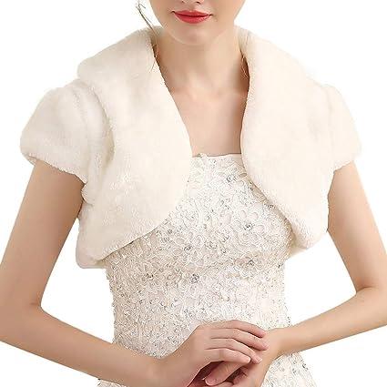 Mantón Bufanda Abrigo de invierno cálido de las mujeres chal nupcial chaleco sin mangas de la