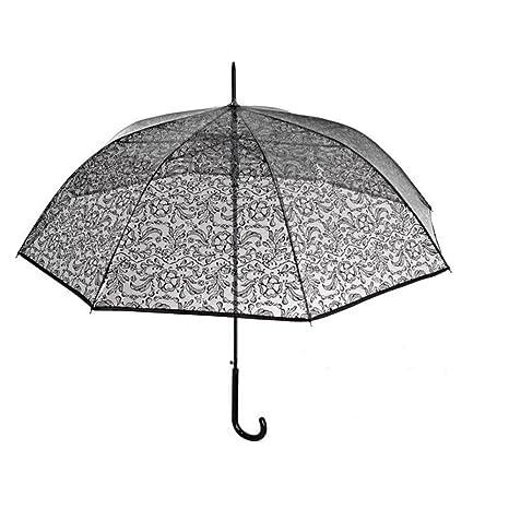 Paraguas Automático Transparente flores