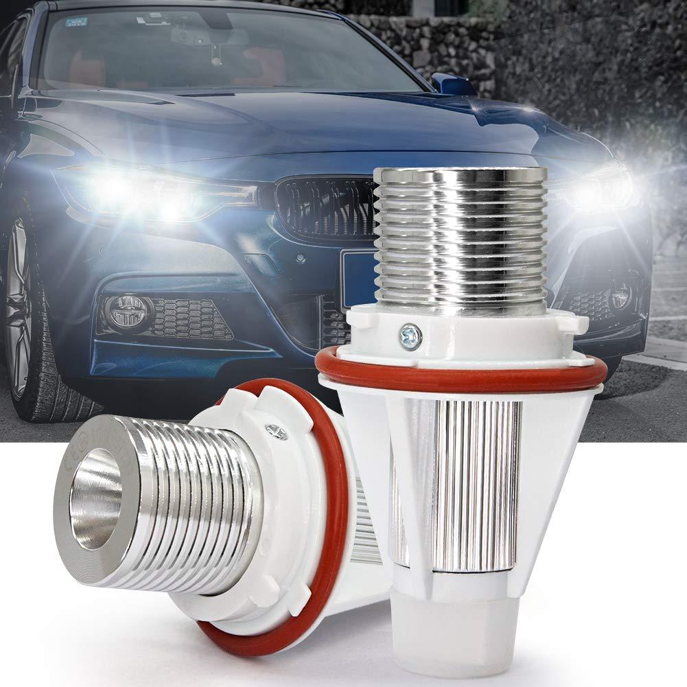 White 2PCS Angel Eyes Bulbs Fit for E39 E60 LED Halo Ring Car Lights Marker Side Bulbs Xenon 10W 6000K CREE White For E61 E87 E53 E63 E65 E83 E87 5//6//7 Series X3 X5 Error Free With CE Marked.