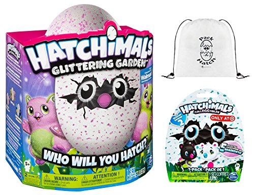 Hatchimals Glittering Garden Burtle & CollEGGtibles Blind Bag (Season 2) & Pack-A-Hatch COMBO by Hatchimals (Image #4)