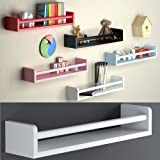 1 White Baby Nursery Room Wall Shelf Wood 17.5 Inch Ships Fully Assembled