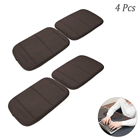 Arm Rest Support Mat for Office Home Laptops Hatisan Premium Memory Cotton Desktop Keyboard Wrist Rest Arm Pad Khaki 4 Pack Portable Computer Wrist Elbow Pad Less Strain 7.9 x 11.8In