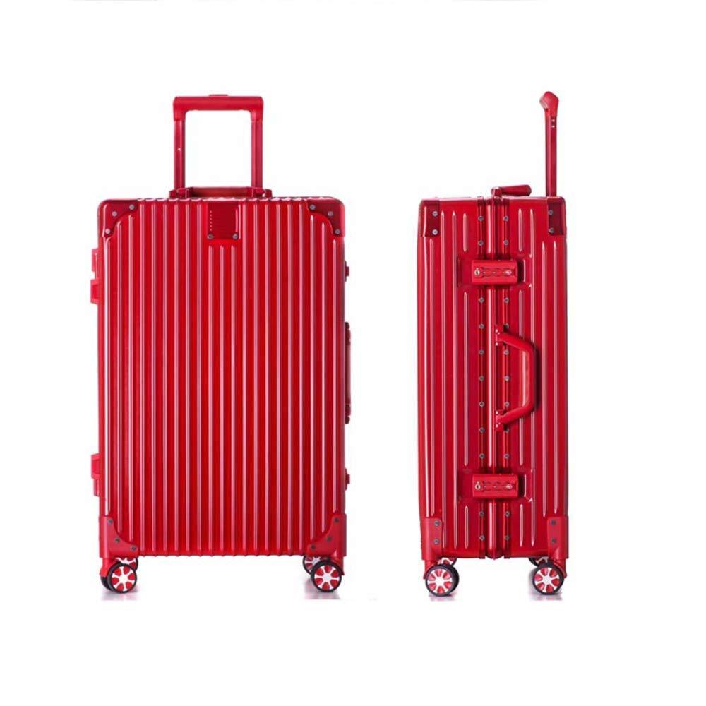 スピナー荷物 Hardside 旅行バッグトロリーローリングスーツケース20インチの光は、TSA のロックで荷物を運ぶ,Red B07JRFTJDJ Red