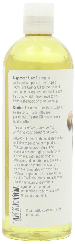 Ahora soluciones aceite de ricino, 100% Pure, 16 oz: Amazon.es: Salud y cuidado personal