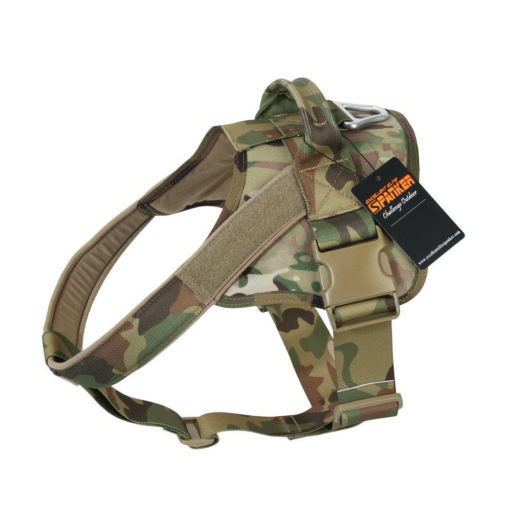 EXCELLENT ELITE SPANKER Tactical Dog Harness Military Patrol K9 Dog Harness Service Dog Vest Nylon Working Dog Vest with Handle(MCP-L)