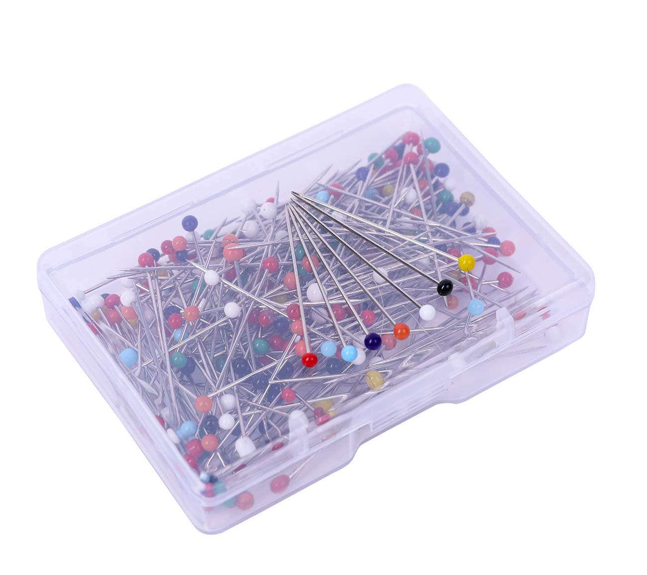 1000 Pieces Y/&YUAN 1-1//4 Inch Color Sewing Pins Ball Glass Head Straight Quilting Pins