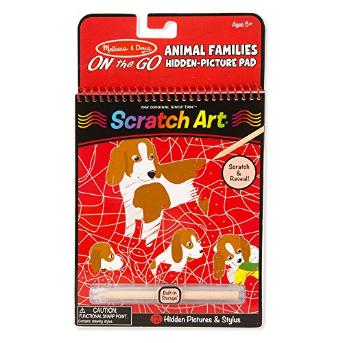 (Melissa & Doug On the Go Scratch Art: Animal Families Hidden-Picture Activity Pad With)