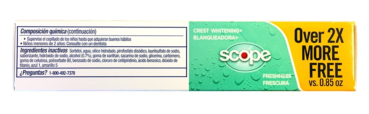 Amazon.com : Crest Whitening Plus Scope Toothpaste Minty Fresh Striped 2.70 oz (Pack of 4) : Beauty