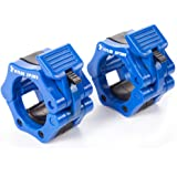 """KYLIN SPORT Pair of 2"""" inch ABS Locking Collars Clamp Hook Grip w/ Quick Release Secure Snap Latch For Standard Olympic Barbells"""