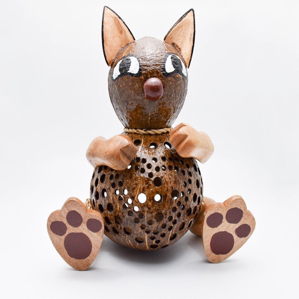 Coconut Shell Lamp – Cat Lamp night Wooden Crafts Handmade decorative