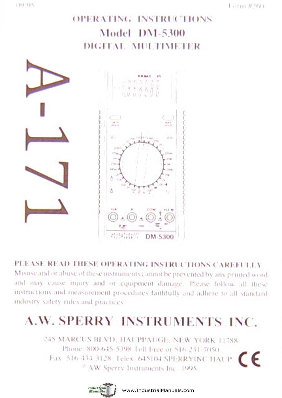 Aw Sperry Instruments Dm5300 Digital Multimeter Operating