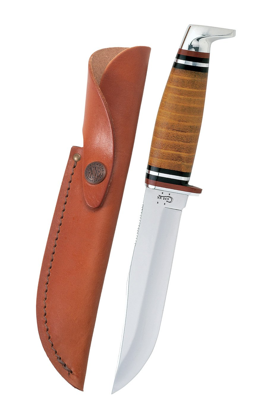 Case Medium Leather Hunter Knife by Case (Image #2)