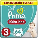 Prima Külot Bebek Bezi, 3 Beden, 64 Adet, Midi Ekonomik Paket
