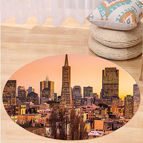 Kisscase Custom carpetApartment Decor Collection San Francisco Skyline At Sunset California Usa Downtown Panorama Bedroom Living Room (Custom Made Costumes San Francisco)