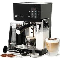 Espresso Machine, Latte & Cappuccino Maker- 10 pc All-In-One Espresso Maker with Milk Steamer (Incl: Coffee Bean Grinder…