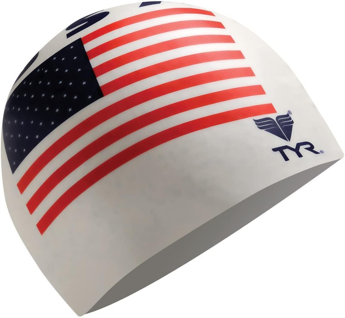 Brand New TYR USA Latex Swim Cap