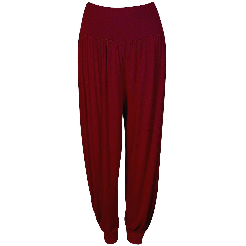 Womens Harem Ali Baba Pants Ladies Trousers Plus Size Yoga Plain Printed Baggy