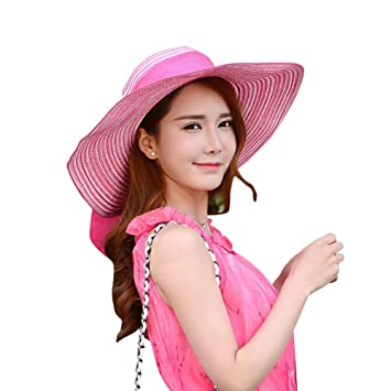 Gladiolus Damas Chicas Sombrero de Verano Grande Sombrero de Playa Sombrero  de Sol 272671be1f2