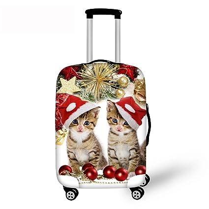 Feliz Navidad 3D Funda de la maleta Gatos y perros ...