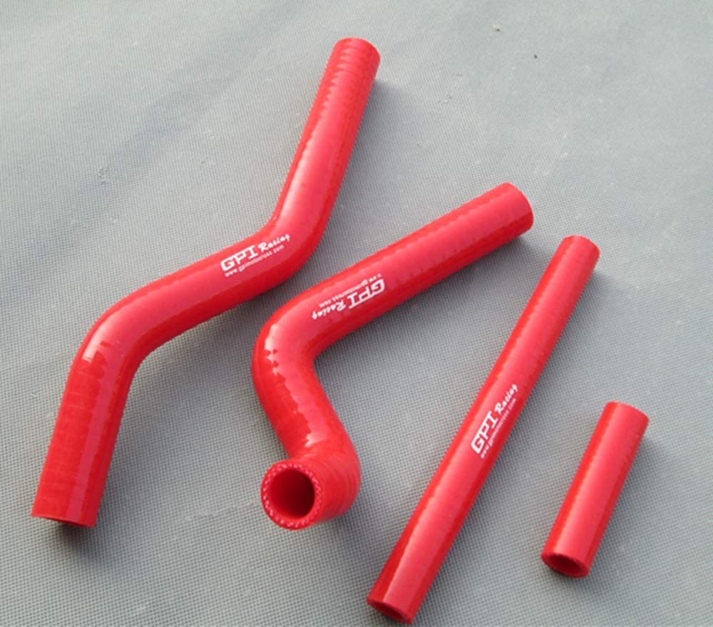 Fit 2001-2008 Suzuki RM125 RM 125 Silicone Radiator Hose Kit Red Cooling Tube