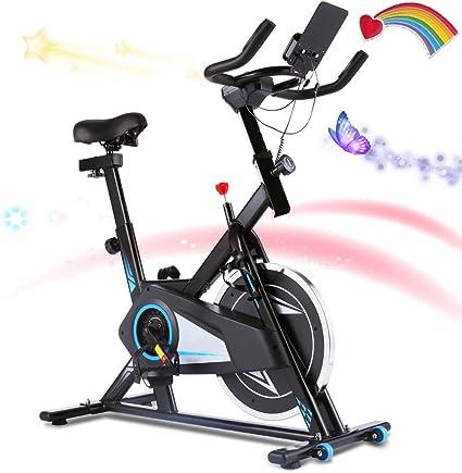 Fitnessbike APP Heimtrainer Klappbar Indoor Cycling Fahrradtrainer Fitnessgerät