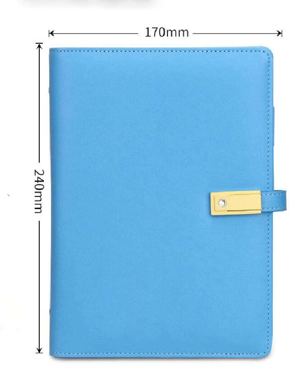 5 and 1 Creative Office A5 Loose-Leaf Stationery Multi-Function Notes Hand bookA4 Folder for Individuals, Schools, Colleges, Offices, Professionals, Businesses (Color : Blue)