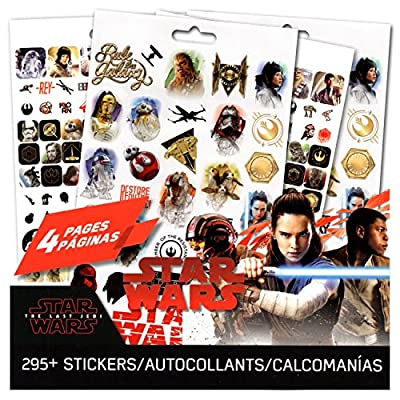 Star Wars The Last Jedi Stickers ~ 4 Page Star Wars Sticker Pad with Over 295 Star Wars Stickers