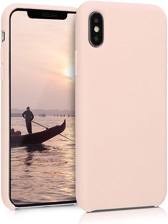 kwmobile Cover Compatibile con Apple iPhone X - Cover Custodia in Silicone TPU - Back Case Protezione Cellulare Rosa Antico