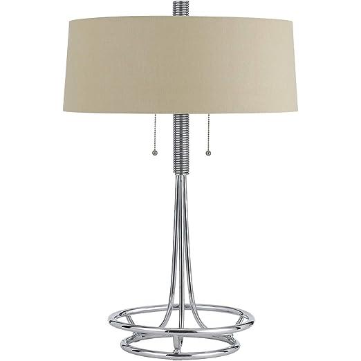 Amazon.com: Lámpara de mesa 2 lámparas de luz con acabado ...