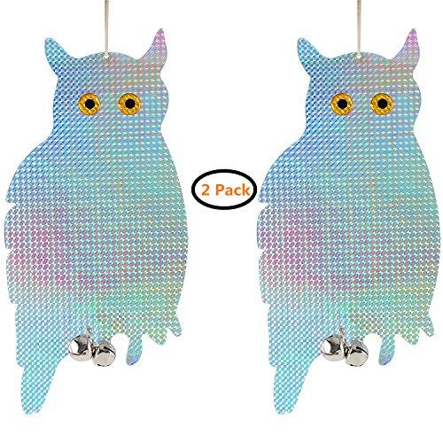 iNeibo Reflective Hanging Owl-Bird & Pest Resistant (2 pack)