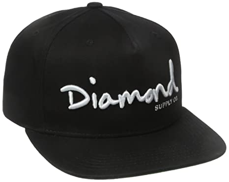 Unconstructed Snapback Cap With Script Logo - Black Diamond Supply Company Opo1btsCw
