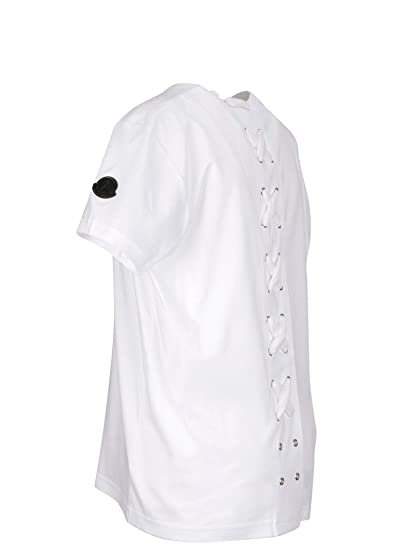 Moncler Women s 8050100809CR001 White Cotton T-Shirt  Amazon.co.uk  Clothing ab85041942