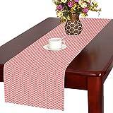 Coral Quatrefoil Pattern Cotton Linen Placemat Table Runner 16'' x 72''