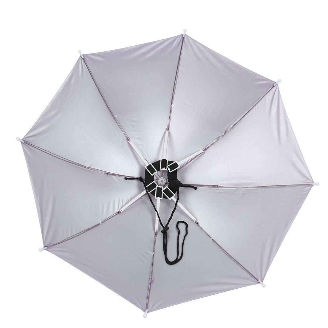 Amazon.com: Banda elástica paraguas Sombrero de 40cm de Pesca Larga Blanco Azul: Home & Kitchen