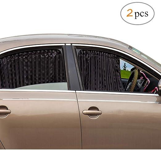 Zatooto Sonnenschutz Fürs Auto Vorhang Sonnenschutz Magnetisch Für Uv Schutz Hitzeschutz Schwarz Auto