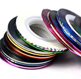 EVERMARKET Multicolor Mixed Colors Rolls Striping