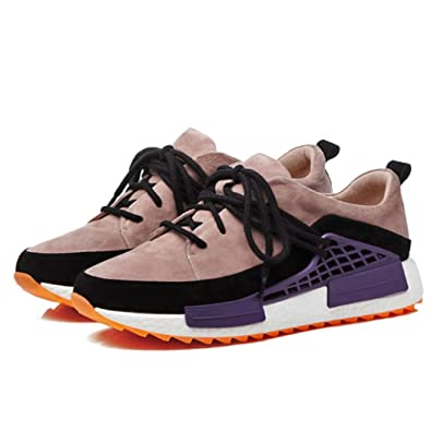 e77b629ee22 GAOLIXIA Women s Shoes Sports Shoes Thick Bottom Wedge High Heels Fashion  Wild Color Matching Casual Shoes
