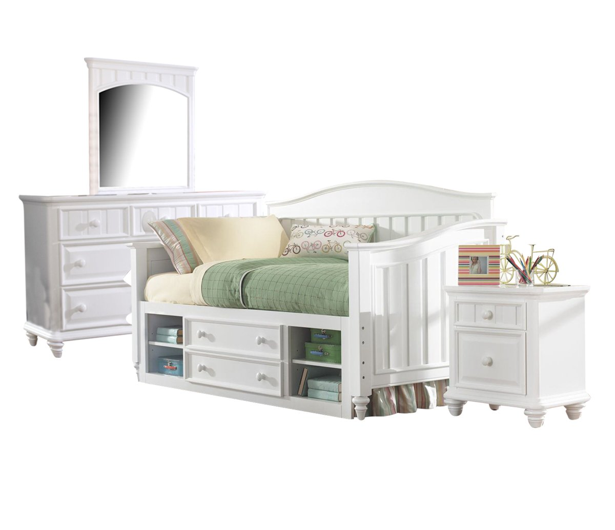 Amazon.com: Samuel Lawrence SummerTime Bedroom Set with Twin Bed ...