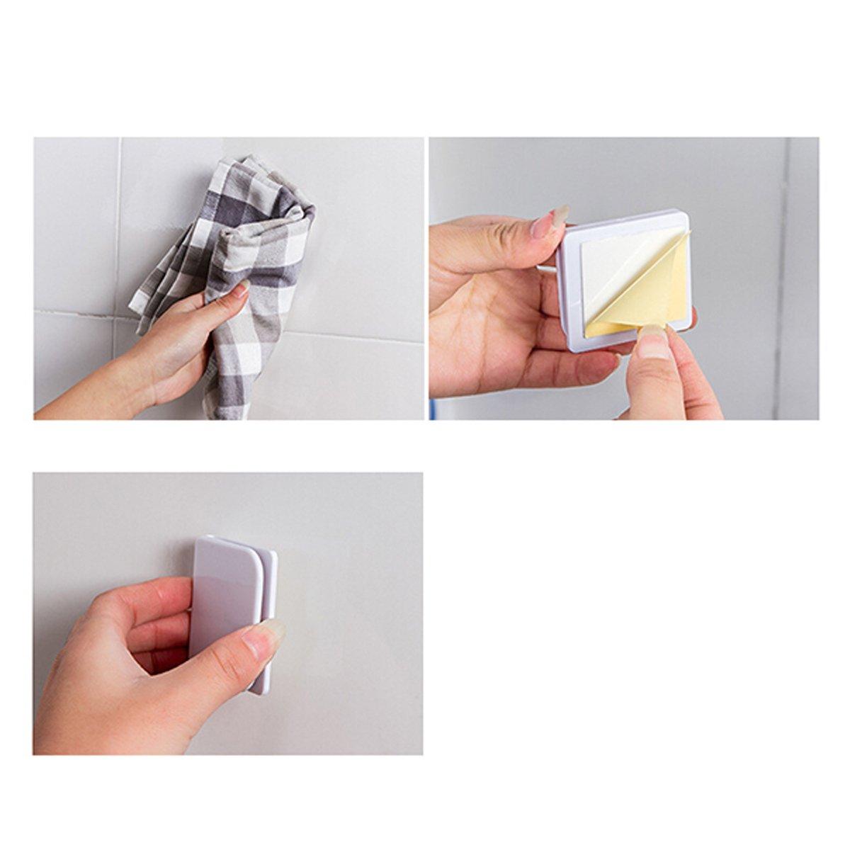 Bianco Anti Splash tenda da doccia e clip bestomz 4/pezzi etichetta tenda clip